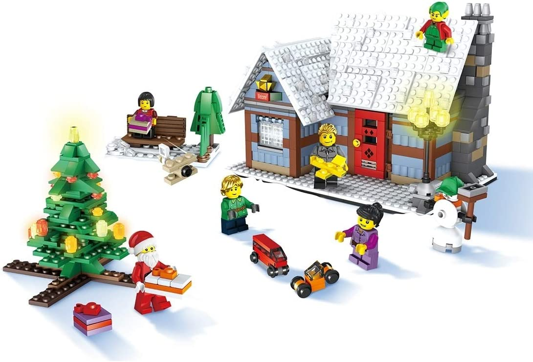 MyEstore Juguetes de la Inteligencia Gran JJR/C 1002 936 en 1 DIY Navidad Village módulos previstos, EN71 / 7P Certificado