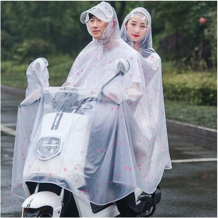 Mobility Scooter Moto Raincoat Pioggia di copertura r la protezione completa con la visiera Trasparente impermeabile Cappotto in bicicletta Pioggia Poncho adulti pioggia con cappucci e Parasole Tarp