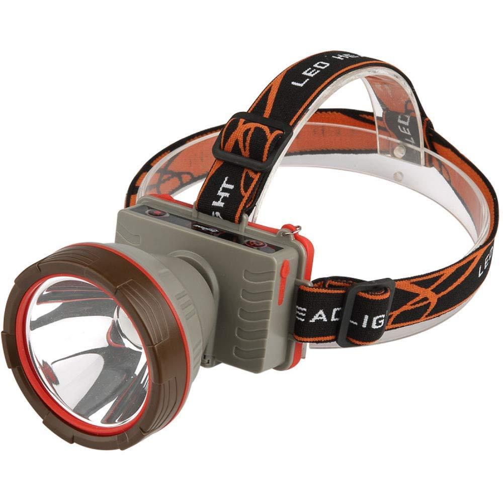 KLSHW Headlights-T6 Lamp Beads Spotlight Long-Range Rechargeable Waterproof Exploration Miner's Lamp Glare Head-Mounted Outdoor Hunting Night Fishing Headlights (Color : Bluelight)