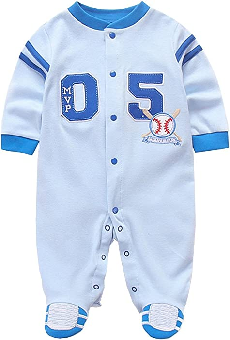 65a224514679 Amazon.com  Fairy Baby Newborn Baby Boys Onesie Footed Pajamas Long ...