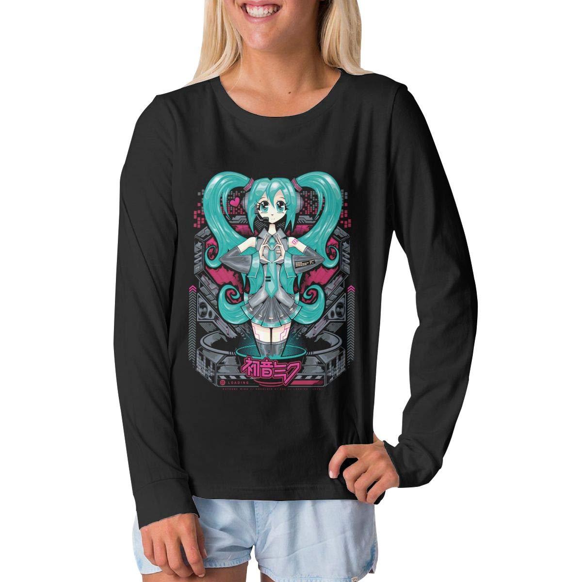 BilliePhillips Youth Hatsune Miku Classic Long Sleeve Tee Shirt