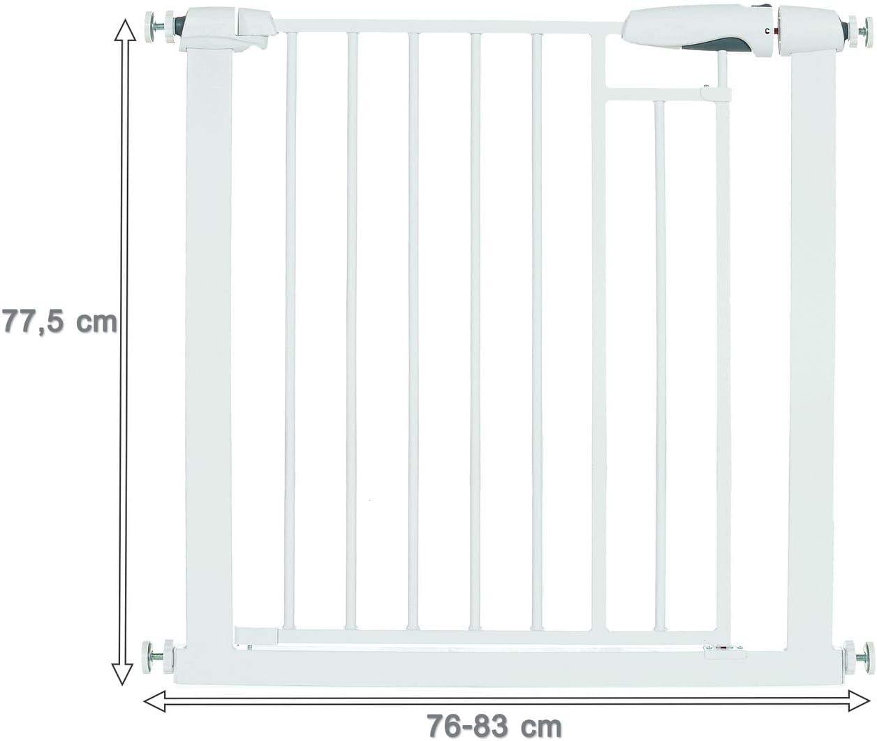 Blanco Extension 7 cm Puerta de eguridad Beb/é Barrera para Puertas y Escaleras