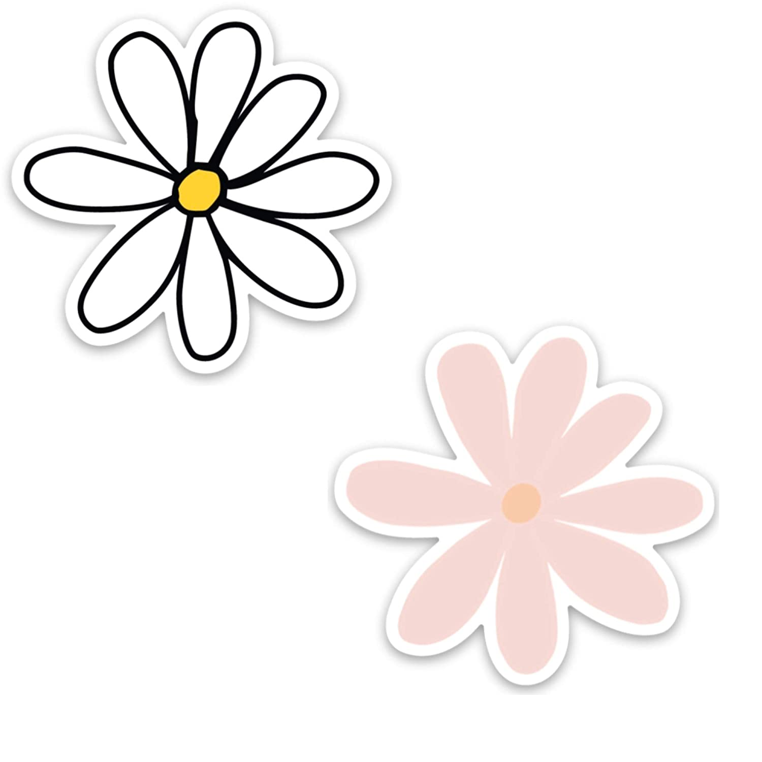 Daisy sticker for a hydro flask, laptop, or water bottle | Waterproof, vinyl decals | Flower stickers