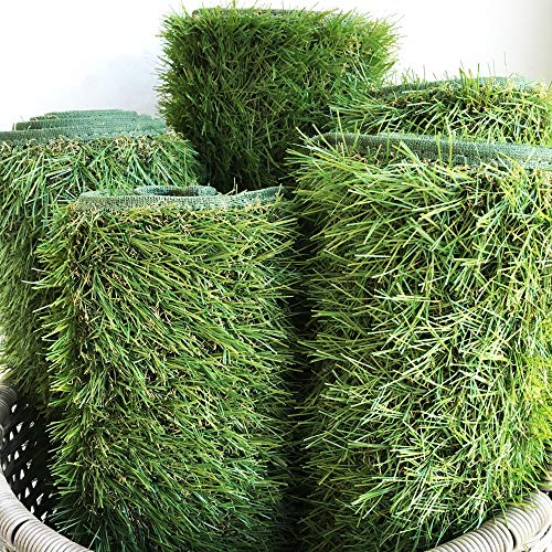 iCustomRug Thick Turf Rugs And Runners in Green 8' X 10' Artificial Grass in Many Custom Sizes and Widths with Finished Edges with Binding Tape