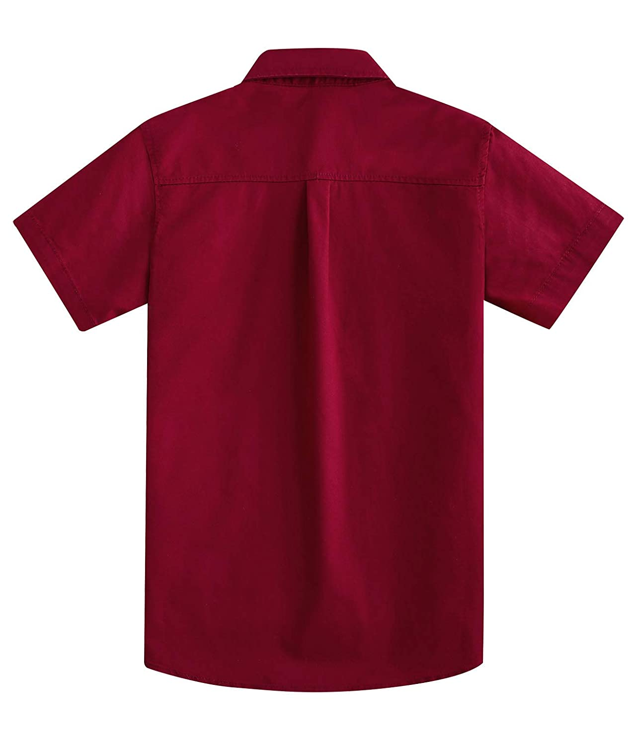 Spring/&Gege Boys Long Sleeve Solid Formal Cotton Twill Dress Shirts