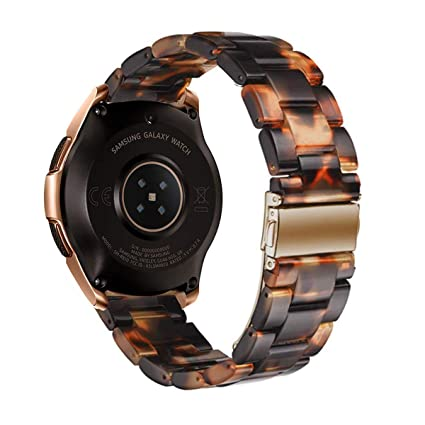 Omter Resin Band Compatible with Samsung Galaxy Watch Active(40mm),Galaxy Watch 42mm R810, Gear Sport,Gear S2 Classic,Ticwatch E, Women Men Fashion ...