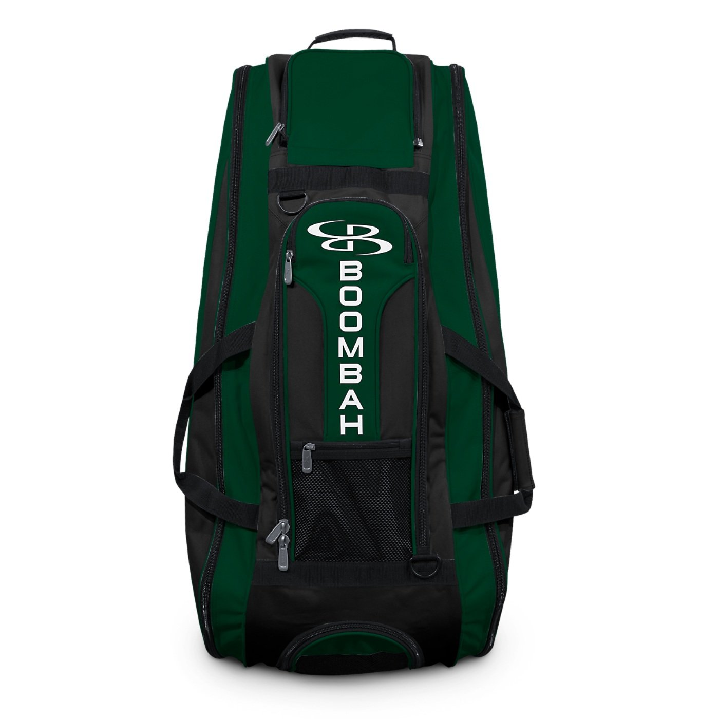 Boombah Beast Baseball/Softball Bat Bag - 40'' x 14'' x 13'' - Black/Dk Green - Holds 8 Bats, Glove & Shoe Compartments by Boombah (Image #3)