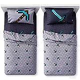 #8: Minecraft Games Kids Twin Bedding Sheet Set