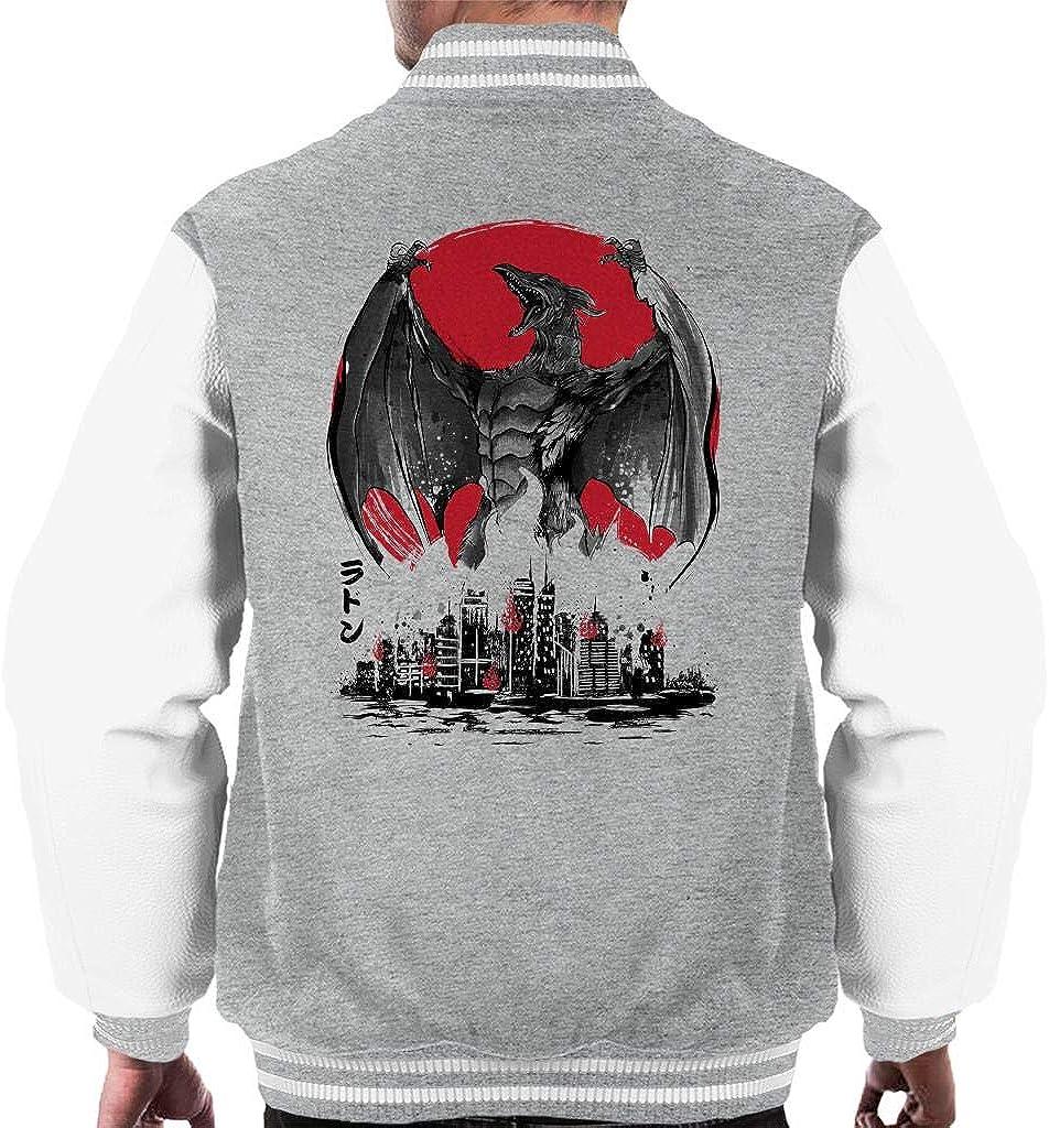 Cloud City 7 Fire Pteranodon Attack Men's Varsity Jacket