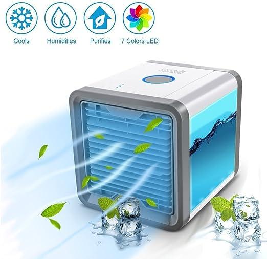 Minisistema de aire acondicionado portátil, humidificador y ...