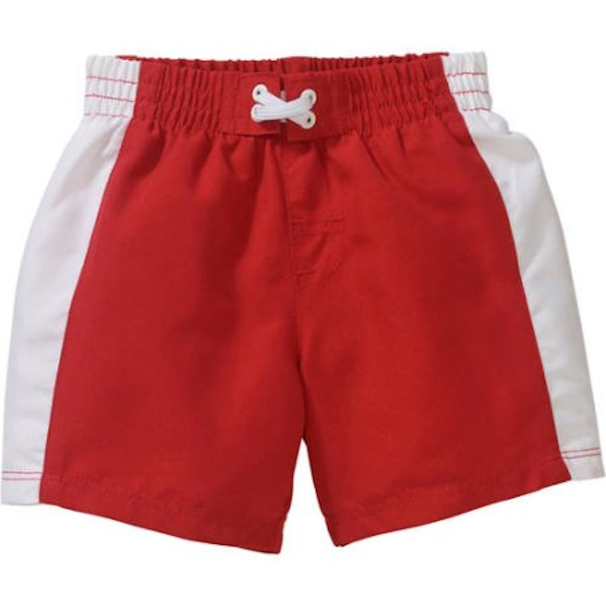 0d8466afbb Amazon.com: Baby Infant Boys OP Red White Striped Swim Trunks Shorts (12  Months): Clothing