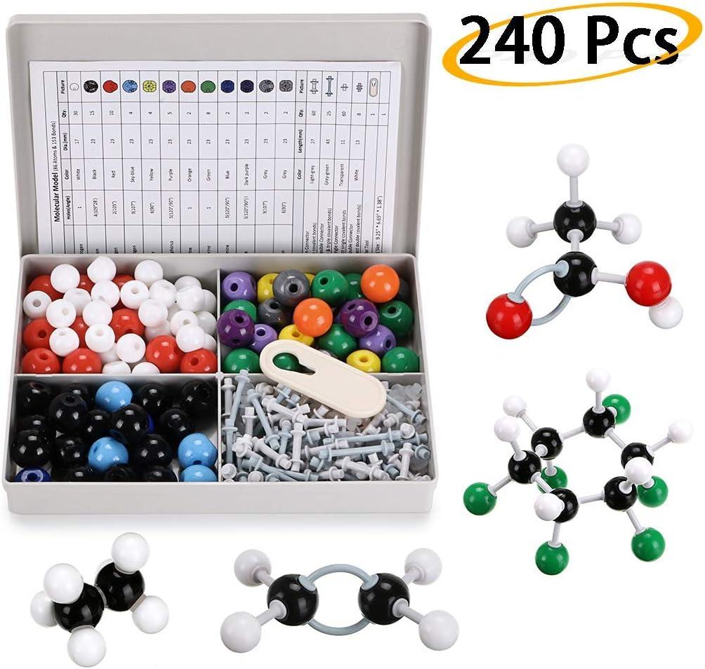 Sisthirth - Kit de modelo molecular de bioquímica (240 piezas ...