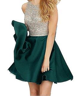 706fae818de5 TANGFUTI Homecoming Dresses Short Beading Satin Prom Dresses Open Back 107