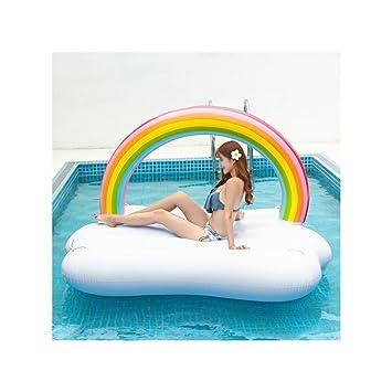 XINGMU Flotador Inflable Cama Flotante De Agua Nueva Inflable Flotante Rainbow Row Natación Acuáticos Adultos Suministros.: Amazon.es: Deportes y aire libre