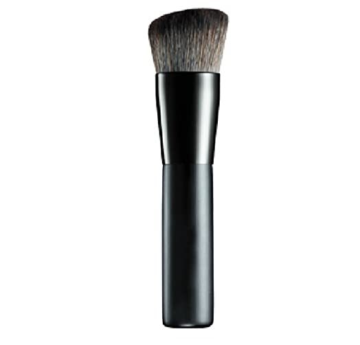 contour makeup brush. lydia® flat top angled thick black blusher/face powder/liquid foundation/face contour makeup brush d