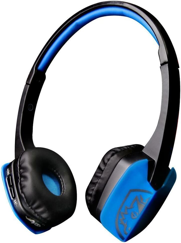 Sades D201 4.1 Bluetooth Headset Stereo Gaming Headphones with Mic Jack on Ear for PC Laptop and Other Smart Phones BlackBlue
