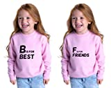 Cute Rascals B is for Best F is for Friends Toddler Long Sleeve Sweatshirt Twin Set Black 7T