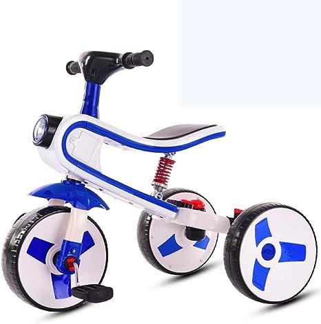 YUMEIGE Yumege Tricycles Bicicletas de música para niños de 2 a 7 años de Edad, Regalo de cumpleaños, Bicicleta de bebé, Peso de Carga 50 kg, Azul Oscuro: Amazon.es: Deportes y aire libre