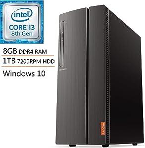 Lenovo IdeaCentre 510A Desktop Computer, Intel Quad-Core i3-8100 3.6GHz (Beats i5-7500), 8GB DDR4 RAM, 1TB 7200RPM HDD, DVDRW, 802.11AC WiFi, HDMI, 7-in-1 Card Reader, Windows 10, iPuzzle Mousepad