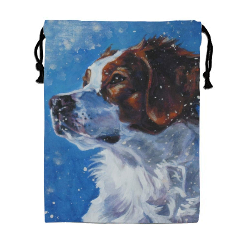 Drawstring Backpack Brittany Spaniel Dog Sports Gym Waterproof String Bag