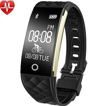 ... Monitor de Calorías,Monitor de Dormir, Notificación de Mensajes Pulsera Inteligente Reloj Cuenta Calorias Fitness Tracker: Amazon.es: Coche y moto