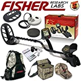 Fisher F75 LTD BLACK Metal Detector Bundle with Boost and Cache Process + NEW Leading Edge Technology Includes 2 Coils, Coil Covers, Backpack, Recovery Pouch, Cap and Battery Charger System