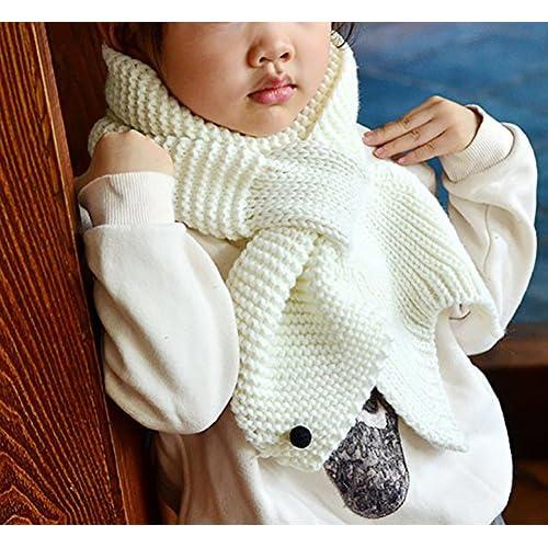 d1c9fcd34d65 Demarkt 1 pcs Tricot écharpe Enfants Mignon Baleine Étoiles Scarf Chaud  Hiver Foulard pour Garçons Filles