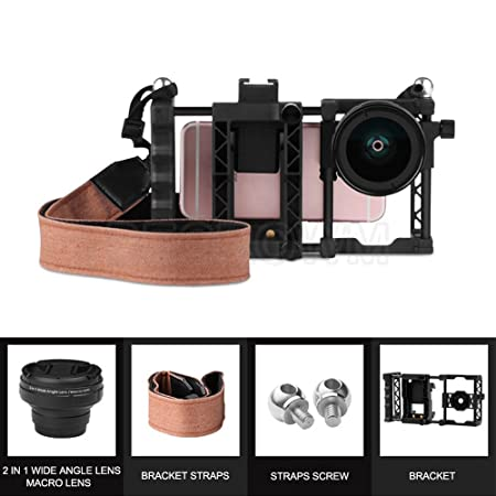 Amazon com: BECROWMUS Smartphone Camera Video Rig, Wide