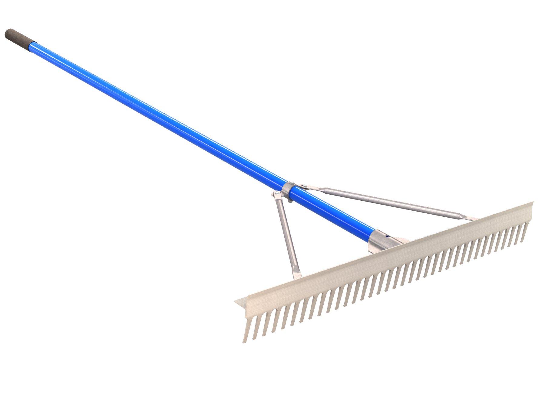 BON 14-673 36-Inch Aluminum Rake Head Professional Landscape Rake with 72-Inch Aluminum Handle