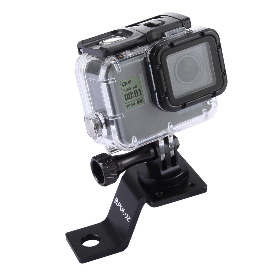 Puluz accessori moto specchio/bullone supporto fisso metallo bici supporto per GoPro Hero 5 4 sessione nero argento 4 3 3 2 sport Action Camera (Oro)