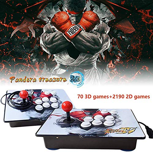 (PinPle Arcade Game Console 1080P 3D & 2D Games 2260 2 in 1 Pandora's Box 3D 2 Players Arcade Machine with Arcade Joystick Support Expand Games for PC / Laptop / TV / PS4 (Pandora's Box))