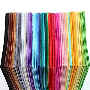 40pcs 5 9inch 5 9inch Polyester Felt Fabric Cloth Diy Handmade Sewing Home Decor Material Thickness 1mm 15cm 15cm
