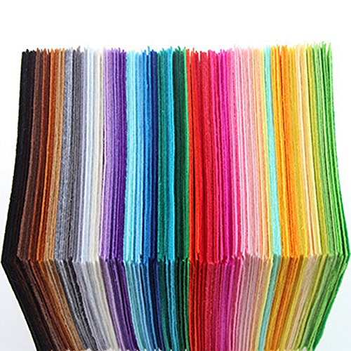 40pcs 5.9inch*5.9inch Polyester Felt Fabric Cloth DIY Handmade Sewing Home Decor Material Thickness 1mm*15cm*15cm