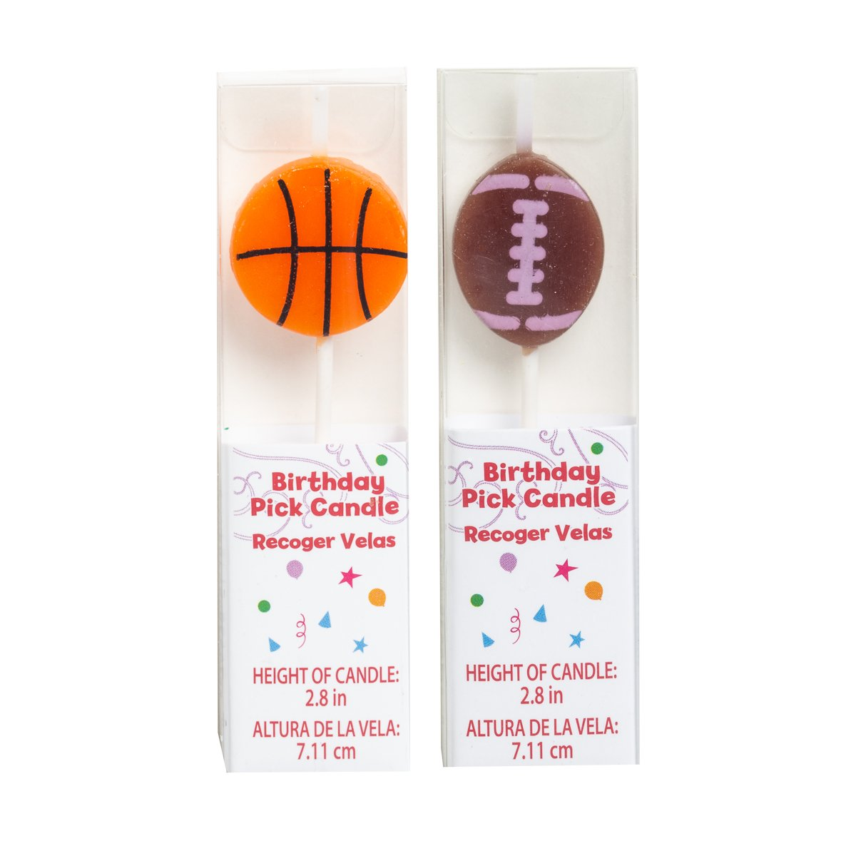 Football and Basketball Birthday Candles Bulk Party Supplies Cake Topper Shapes Letters Sports Cupcake Candles for Kids Adults 67 Dept 12 Pack