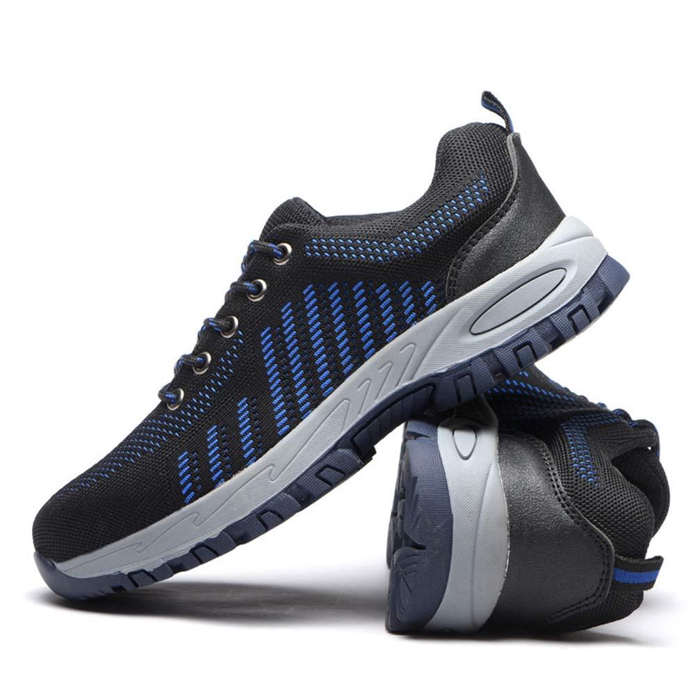 KINGLEN Steel Toe Breathable Industrial Construction Shoes for Men Women Weaving Work Safety Shoes (8 Women / 6.5 Men, Blue) by KINGLEN (Image #1)