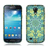 Nextkin Samsung Galaxy S4 mini I9190 Flexible Slim Silicone TPU Skin Gel Soft Protector Cover Case - Teal Yellow Mandala