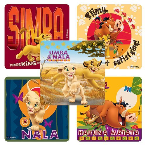 SmileMakers Disney Lion King 75 per Pack Inc SmileMakers Inc Hakuna Matata Stickers Party Favors