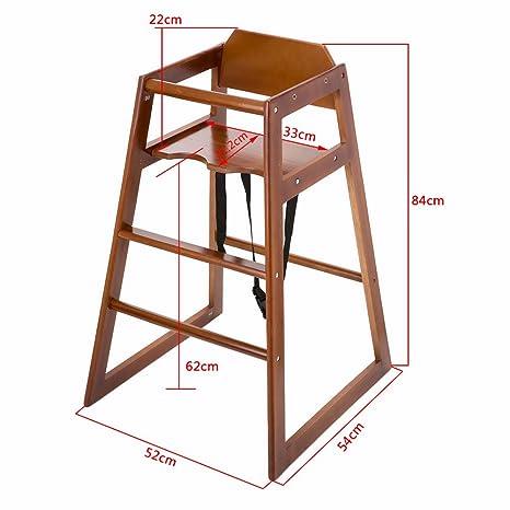 ogori apilable de madera bebé Trona alta silla hogar y comercial ...