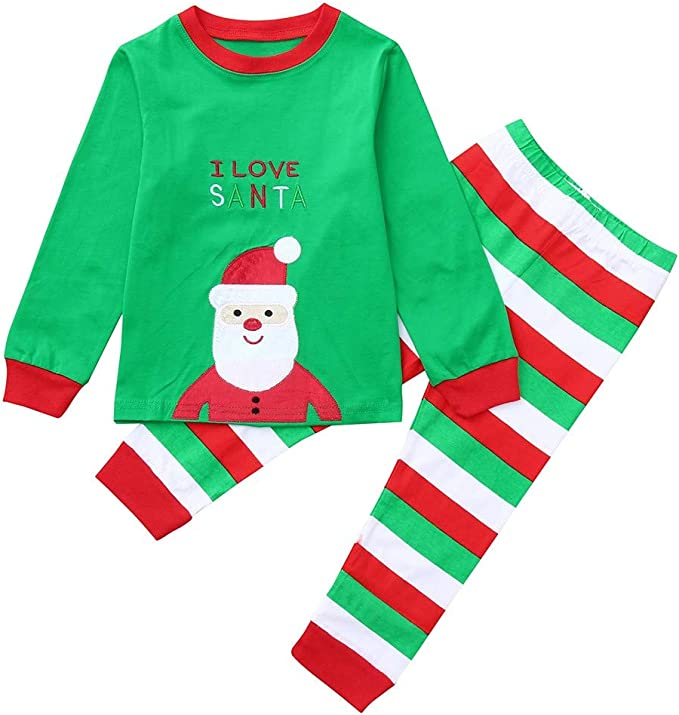 Amazon.com: 2 piezas de trajes de Navidad para niños y niñas ...