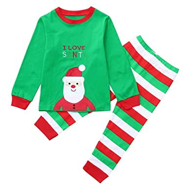 Amazon.com: Baby Toddler Boys Girls Christmas Clothes Set 1-7 Years Old,  2Pcs Kids Cartoon Santa Print Top Stripe Pants Outfit: Clothing - Amazon.com: Baby Toddler Boys Girls Christmas Clothes Set 1-7 Years