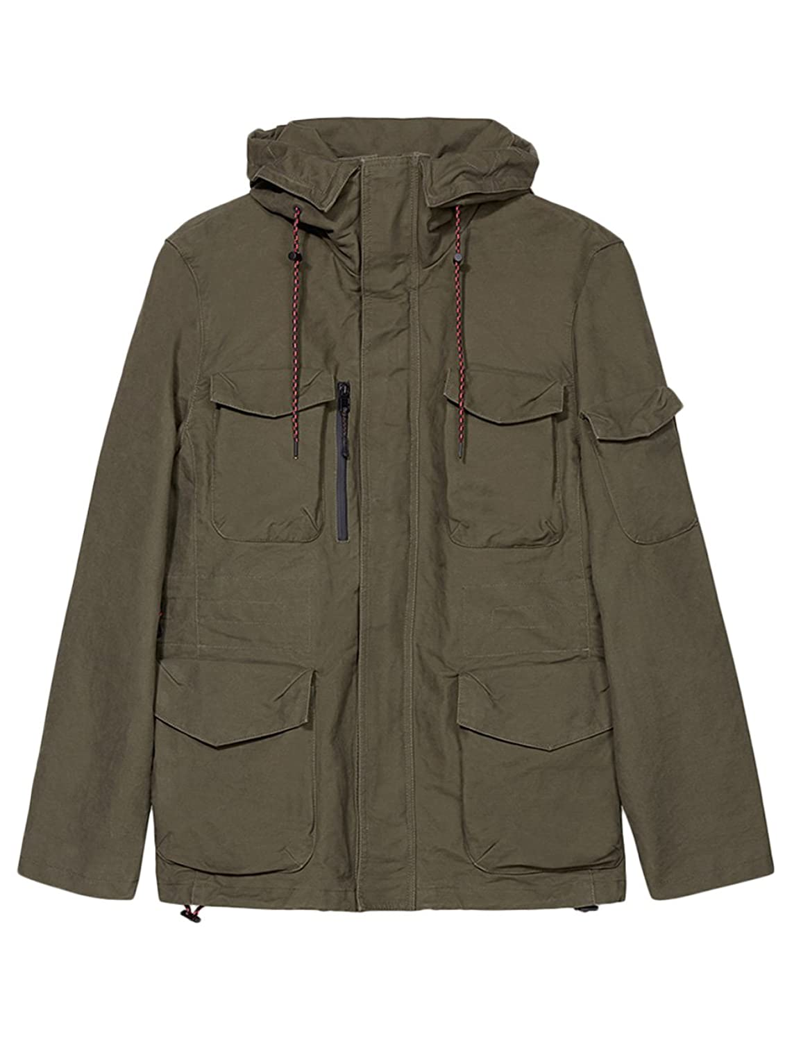 Esprit Men's 2-In-1 Field Jacket With A Zip-Off Quilted Gilet 100% Cotton