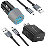 Cluvox USB C Fast Charger Kit, Compatible for Samsung Galaxy S21/S20/Plus/Ultra/S10/S10e/S9/S8/Note 20/10/9/A20/A50, Quick Ch