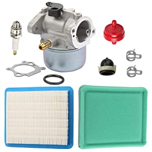 Butom 799868 Carburetor + 491588S Air Filter 493537S Pre-Filter for Briggs and Stratton 694882 698444 498254 798170 498170 497347 498966 497314 4-7 HP Engine Toro Craftsman Lawn Mower