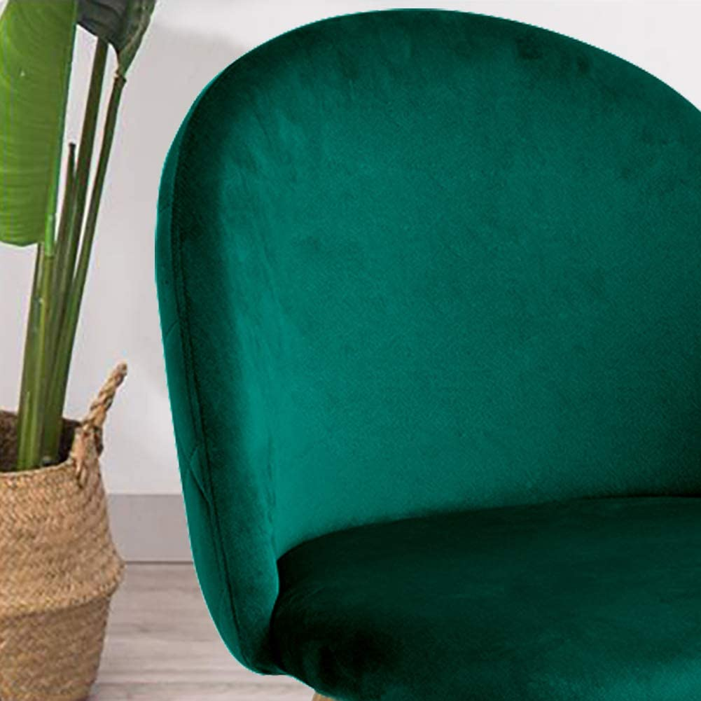 TUKAILAI 2 Pezzi Sedie Cucina Moderne Sedie Sala da Pranzo Sedie Velluto Soggiorno Sala Attesa Pranzo Verde
