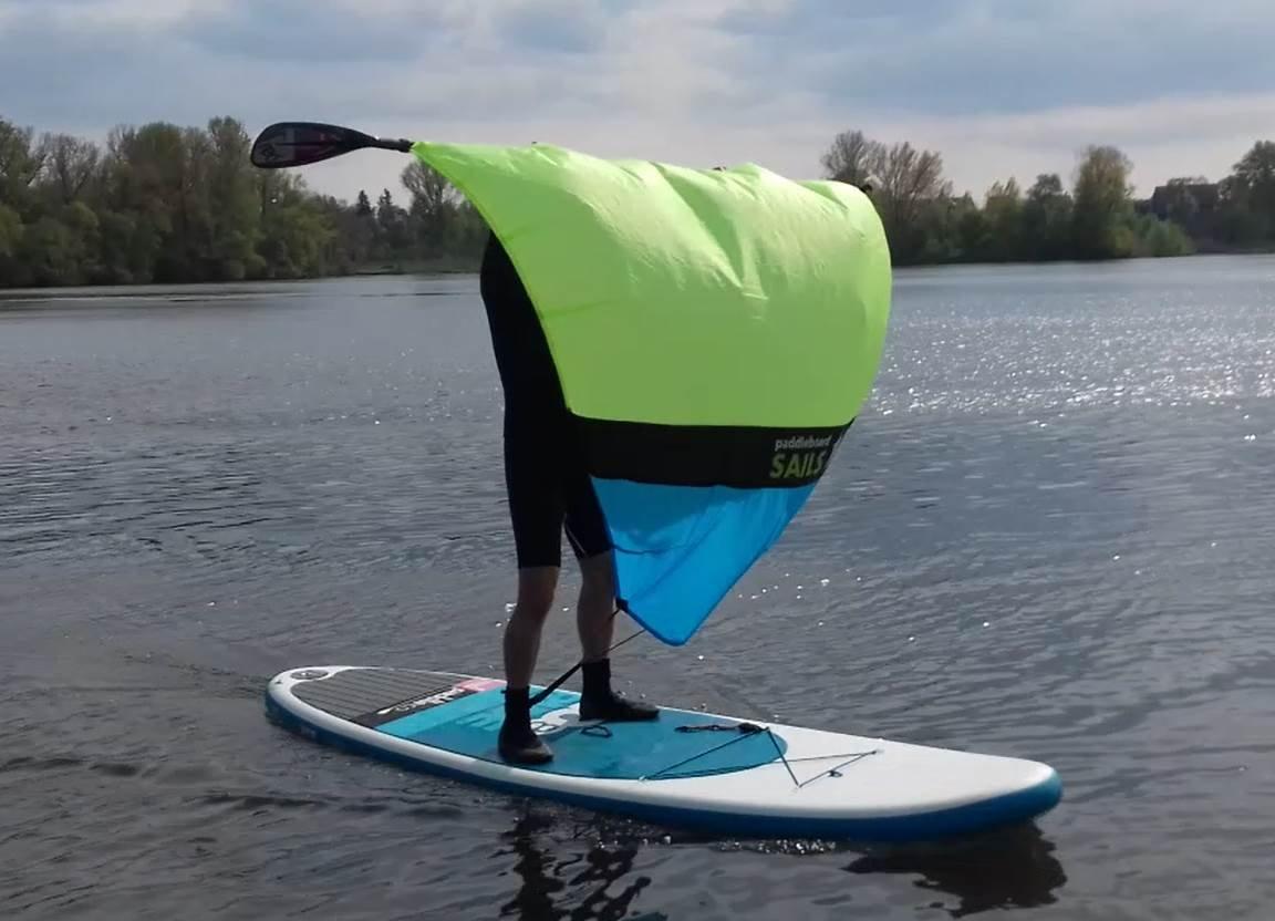Vela para paddle board (verde fluorescente/azul): Amazon.es: Deportes y aire libre