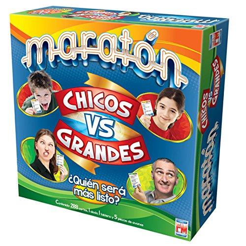Marathon Board Game - Maratn Juego de Mesa Chicos vs Grandes (Spanish Edition)