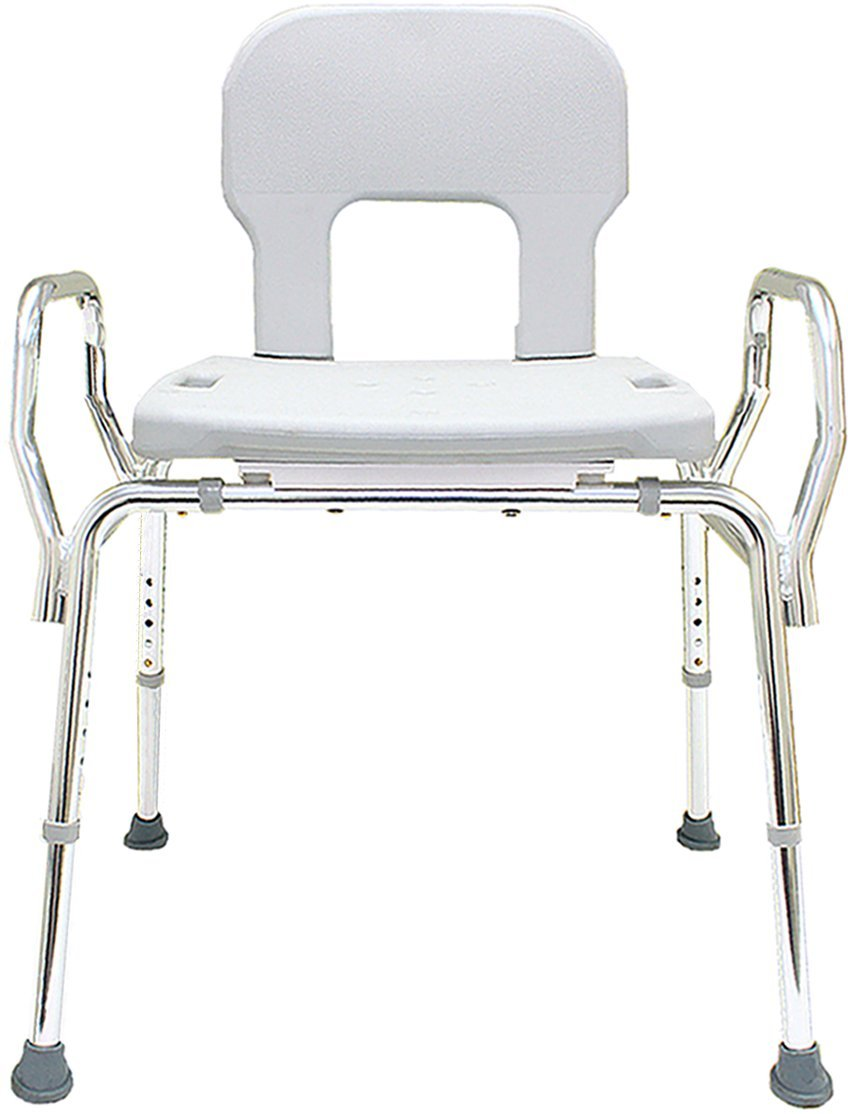 Bariatric Shower Chair (72621) - (Base Length: 27.5'' - 28.5'') - Heavy Duty Bath Seat Chair - Eagle Health Supplies