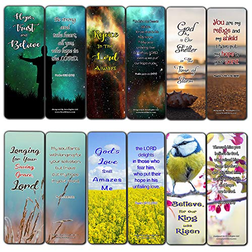 - Hope in God Bible Bookmarks (30 Pack) - Handy Reminder to Put Our Hope in God Alone