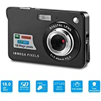 Digital Camera, Youmeet 2.7 inch LCD Rechargeable Cameras, 18MP Compact Camera, Indoor&Outdoor Pocket Camera for Adult,Kids,Children,School Students-Black