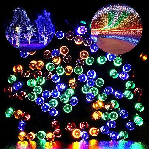 Blusow Solar String Lights 100LED Outdoor Fairy Lights, 5...